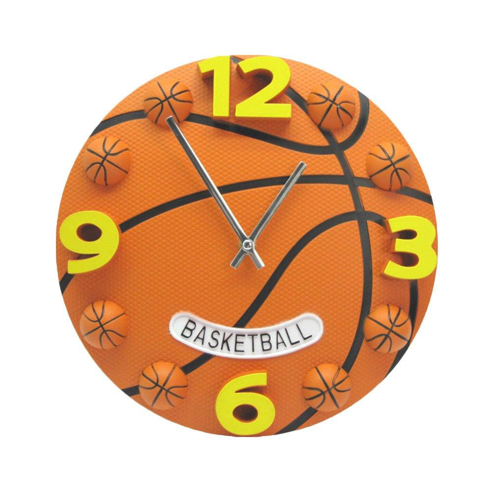 VORCOOL Wanduhr leise a Form von Basket 12 Zoll