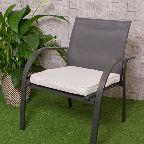 Sofa Resistant Filled Outdoor Garden Water Bazaar Chair Coffee Black Stone with 50cm Bench Pad Ties x Cushions Decorative Cushion Seat Bag Sand 43cm Bean 2 for or Foam v7REww