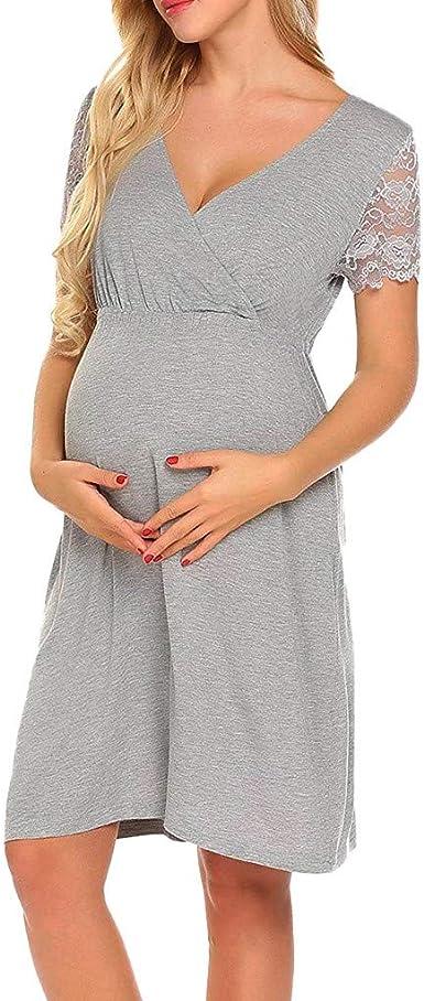 Moda Color Sólido Vestidos Falda de Mujer Suelto Casuales ...