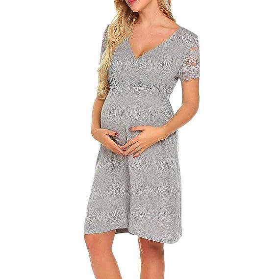 Moda Color Sólido Vestidos Falda de Mujer Suelto Casuales Ropa ...