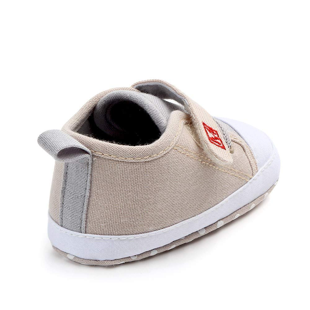 Pandaie Baby Boy /& Girl Shoes /Newborn Baby Cute Boys Girls Canvas Letter First Walkers Soft Sole Shoes