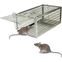 skycabin Humane Live Animal Cage Trap,Rodent Cage Trap for Rat, Rodent, Mouse, Hamster,Mole, Weasel,Gopher,Squirrel and More Small Rodents Indoor Outdoor Live Catcher Pest Control