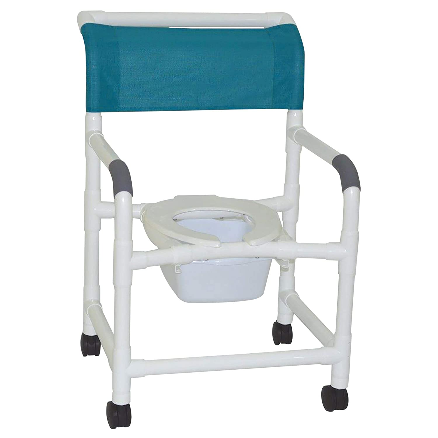 "MJM International 122-3TW-SQ-PAIL Wide Shower Chair with Commode Pail, 375 oz Capacity, 40.5"" Height x 26\"" Width x 27\"" Depth, Royal Blue/Forest Green/Mauve 61QZaxmff2BL._SL1500_"