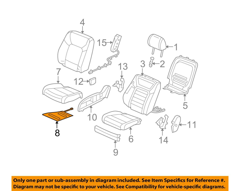 Honda Genuine 81134-SZA-A11 Seat Cushion Heater