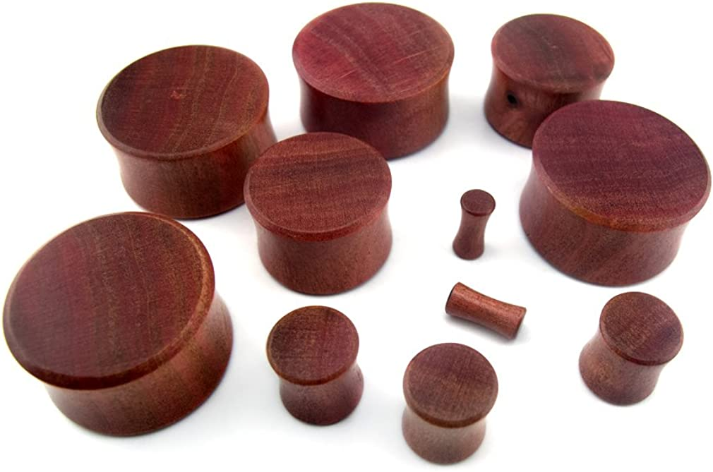 12mm Double Flare Urban Body Jewelry Pair of 1//2 Gauge Pink Ivory Wood Plugs
