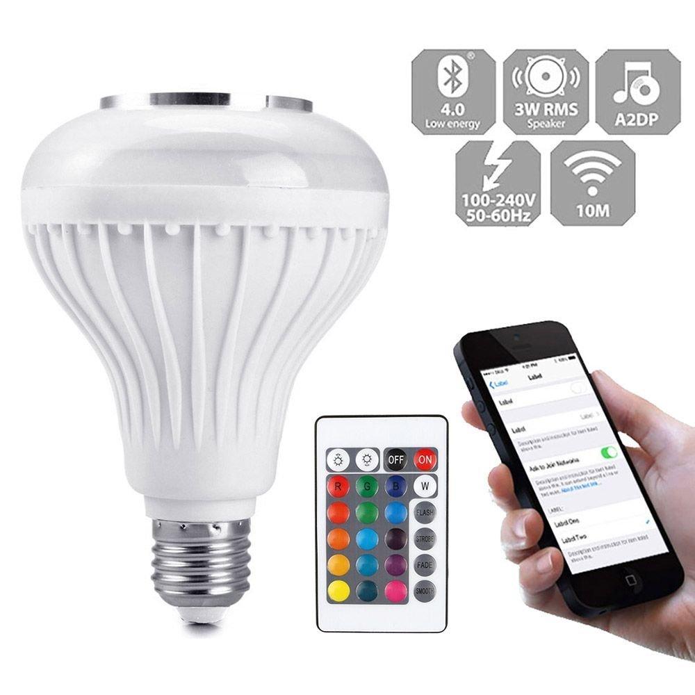 MMRM Bluetooth Sans Fil Ampoule Musique Orateur Smart E27 LED RGB Lampe Ampoule Lecteur de Musique
