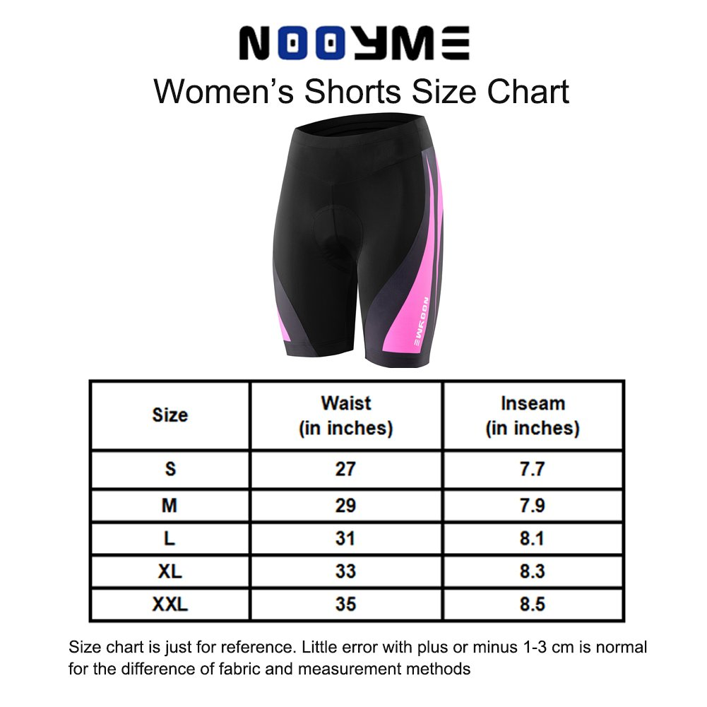 6fae92a2e NOOYME Womens Bike Shorts for Cycling with 3D Padded Pink Ride Women  Cycling Shorts  1540905301-98065  -  16.99