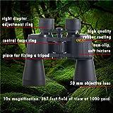 Binoculars for Adults Women Men, Compact Best Porro Prism Binoculars, Ideal for Hunting Travel Astronomy Stargazing Safari Bird Watching Folding Rangefinder Powerful Binoculars (10x50 Binoculars)
