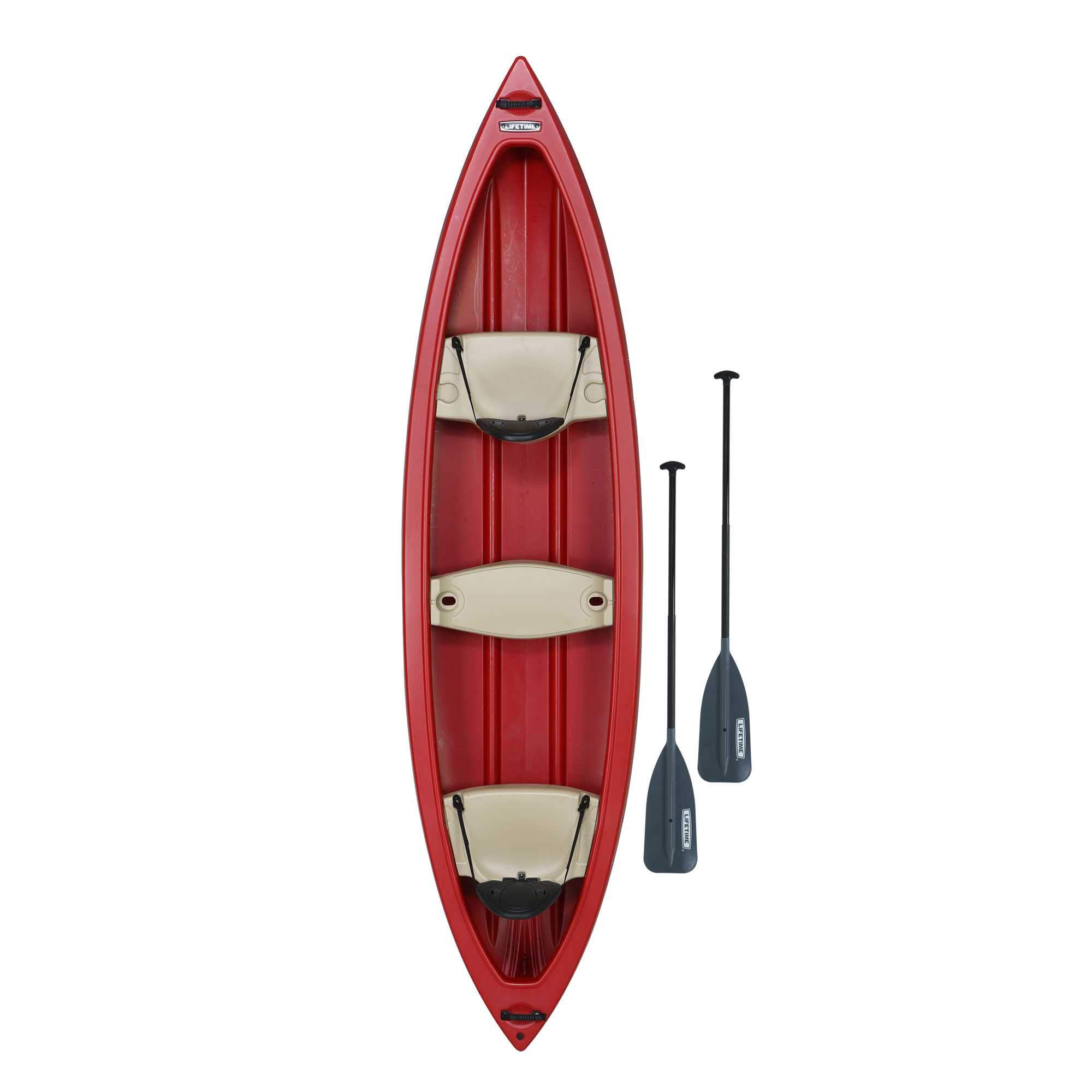 Lifetime Kodiak Canoe with 2 Paddles, Red, 13' by Lifetime