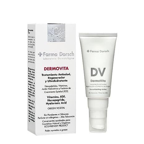 Farma Dorsch, Crema antiarrugas facial con vitaminas para pieles Mixtas o grasa. Dermovita -