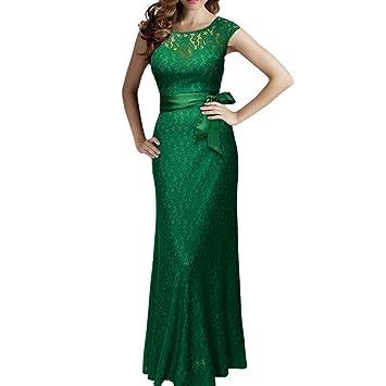 091a603084 Vestido de mujer Sexy Señoras Floral Cordón La longitud del piso Boda Dama  de honor Elegante ...