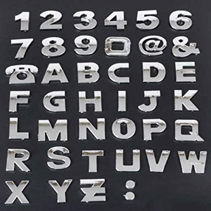S2s 3d car alphabet letter a z 26 letters 0 9 ten numbers and
