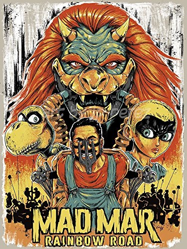 Super Mario Mad Max Inspired Epic Video Game Movie Poster Archival Giclèe (Epic Bowser)