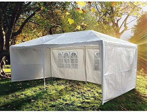 Concept-Usine tienda de jardín pérgola 3 x 6 m Lutecia lienzo blanca Barnum carpa carpa recepción: Amazon.es: Jardín