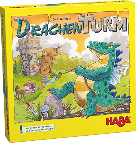 HABA Dragon Tower - A Cooperative Game for Fearless Heros for Ages 5-99 (Made In Germany) by HABA