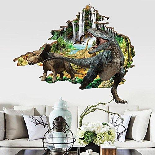 Mkxiaowei Pegatinas de pared tridimensional 3D pegatinas dormitorio animales decorativos piso pegatinas hogar decoracin infantil Sala