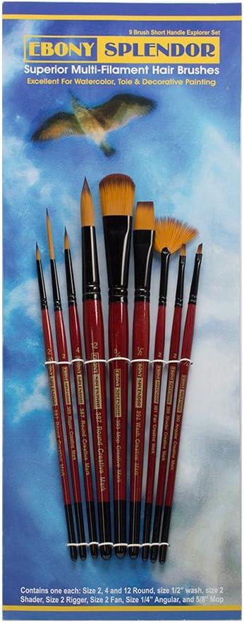 Ebony Splendor Brush Long Handle Round Set