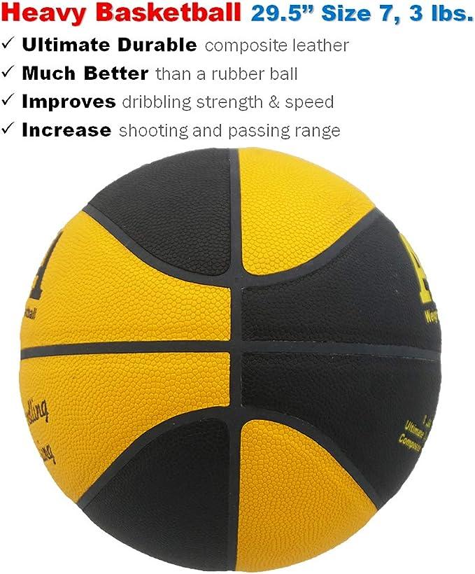 AKA Basketball Training Set 3 lbs Weight /& Size 7 Ball // 3 lbs Weighted Training Ball