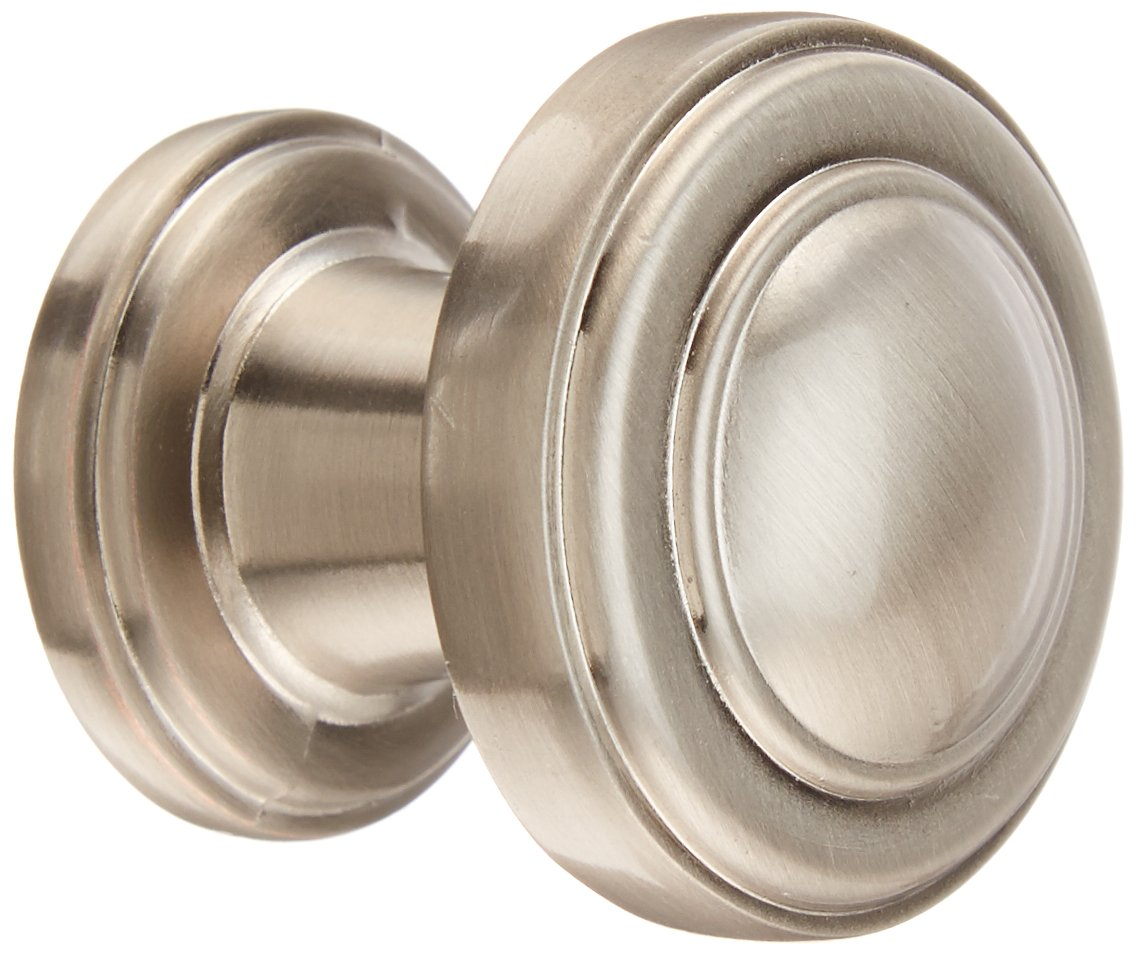 atlas homewares 313brn 11inch bronte round knob from the bronte collection brushed nickel cabinet and furniture knobs amazoncom