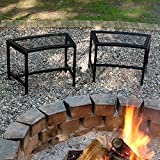 Sunnydaze Outdoor Curved Fire Pit Bench - Rustic