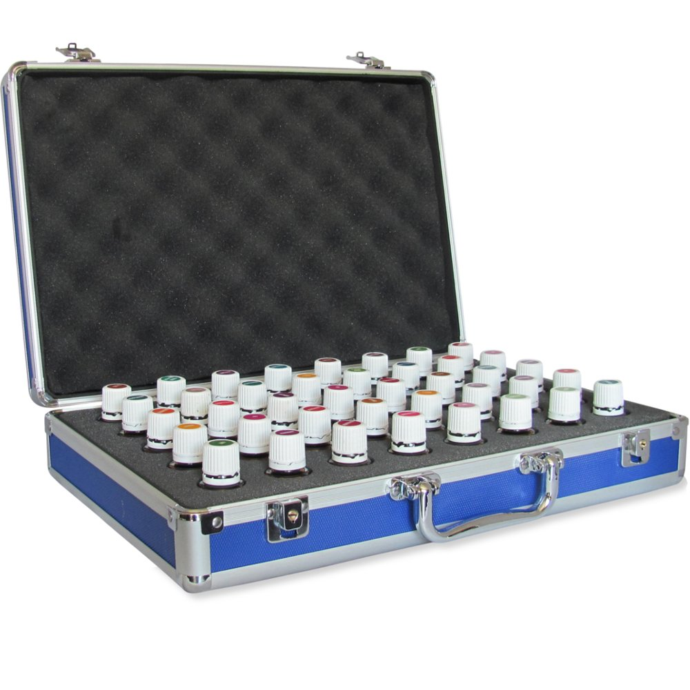 40 Bottle Essential Oil Carrying Case - Protect Your Oil Collection! - Perfect for Travel, Storage, or Display. Precision Cut Foam To Fit the Most Popular Oils Including Young Living and DoTerra