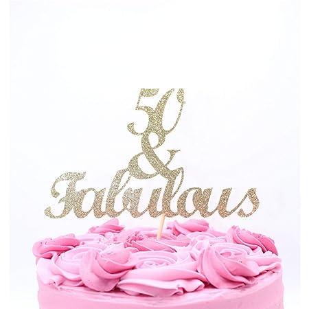 Decoración para tarta de 50 y Fabulosas decoraciones doradas ...