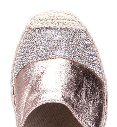 Schuhtempel24 Damen Schuhe Halbschuhe Flach Ziersteine Rosa