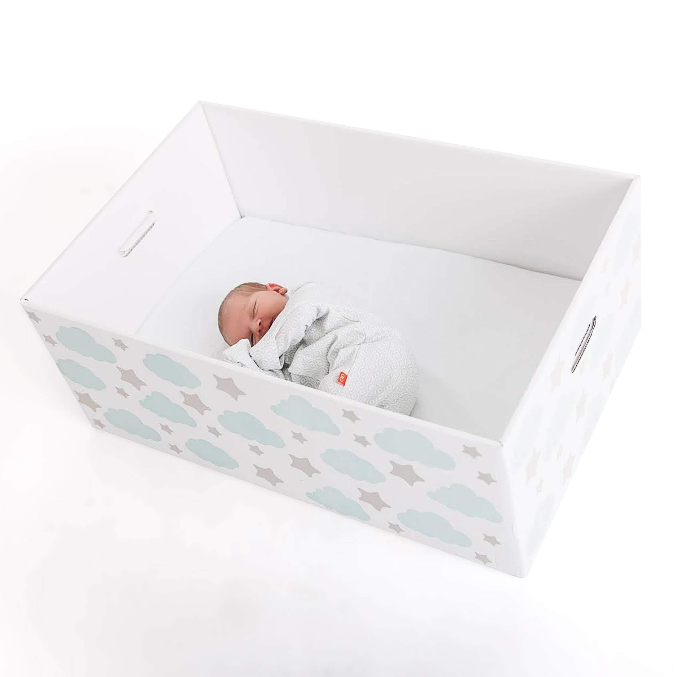 Finnish Baby Box Bassinet   Safe & Portable Sleeper for Your Newborn Infant   Finnbin