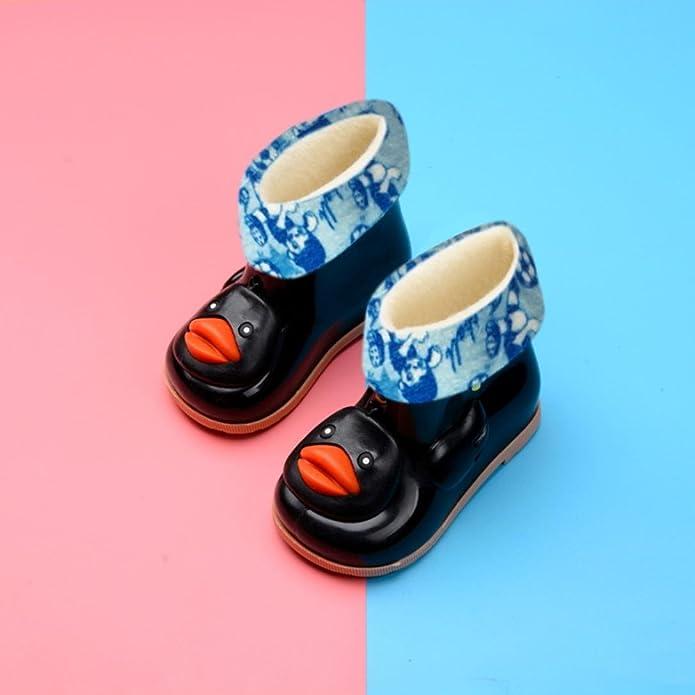 Bottes de Pluie Mixte Enfant,Covermason Randonn/ée en Plein air Chaussures de Pluie Marche Bottes Cartoon Canard Imperm/éable Chaude Bottes Chaussures de Pluie Couverture Anti-Pluie