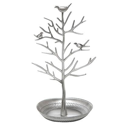 Amazoncom Inviktus Silver Birds Tree Jewelry Stand Display Earring