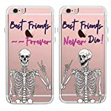 Best iPhone 6 Case friends phone case - TRFAEE Creative Best Friends Forever Couples Matching Skulls Review