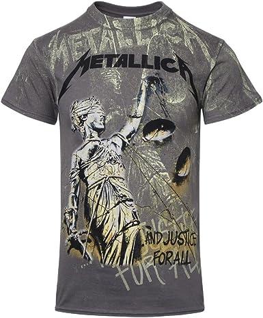 Metallica - Camiseta con diseño Delante y detrás - Justice Neon: Amazon.es: Ropa y accesorios