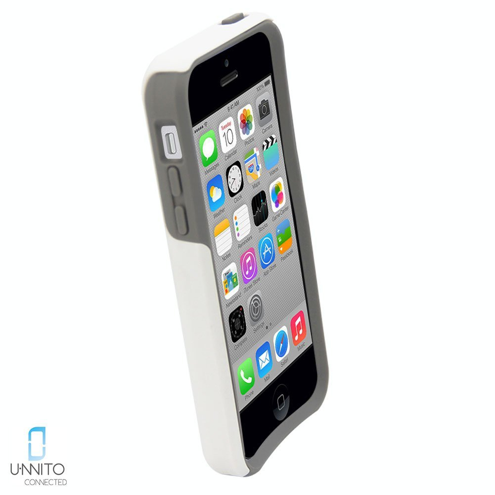 big sale acda9 7dada Unnito iPhone 5C Case – Hybrid Commuter Case | Slim Cover with Hard Shell  Design and Soft Inner Layer Compatible with iPhone 5C White Case - Pastel  ...