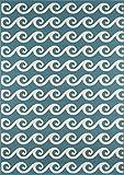 Nolita Rugs Logan Polypropylene Blue Indoor/Outdoor Rug 7'10'' X 10'10''