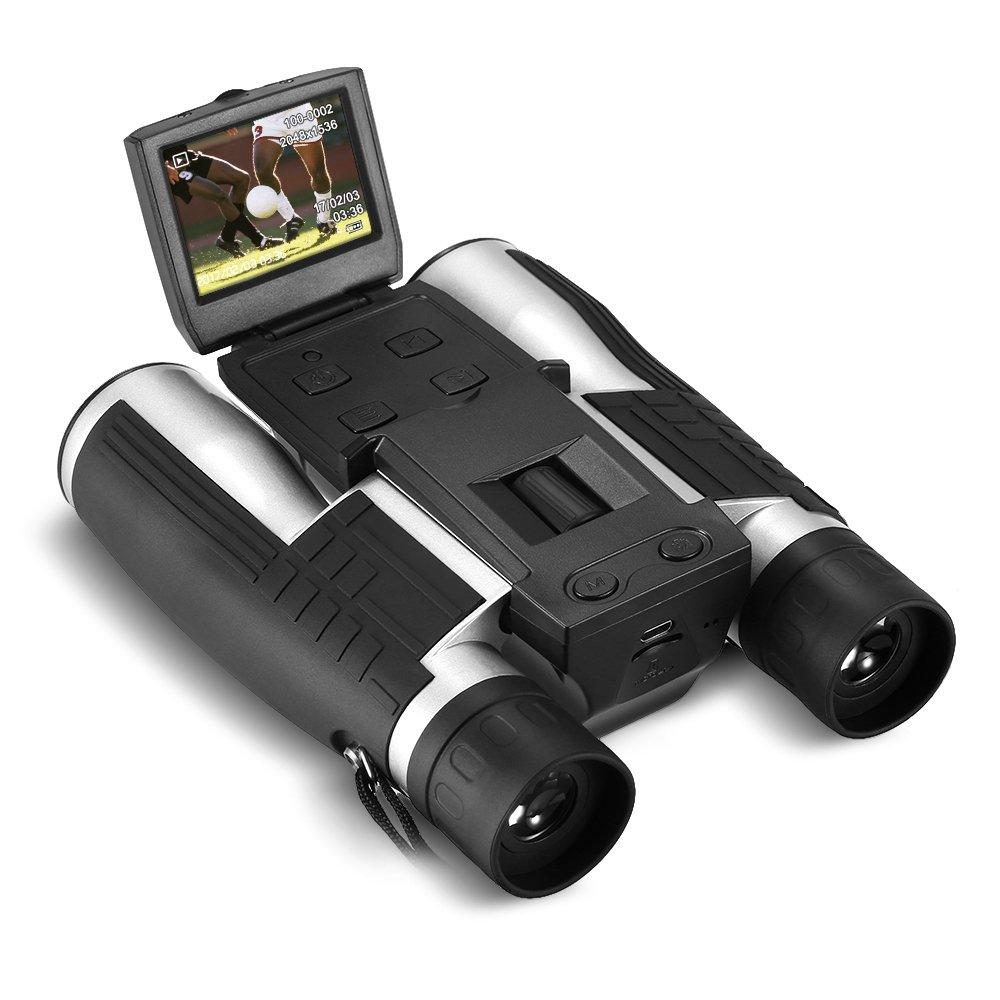 """Lixada 12 x 32デジタルカメラ双眼鏡USB充電式2 """" LCD表示1080p 5 MP写真ビデオレコーダー監視カメラ望遠鏡 B079QCV31B"""