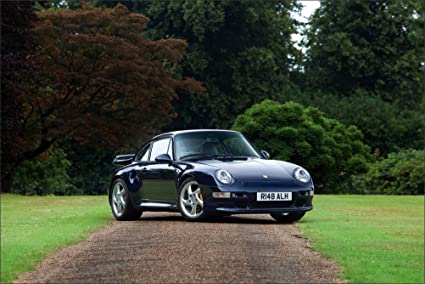 Innerwallz Porsche 1997 911 Turbo S Coupe UK-spec 993 Blue Cars Wall Art,