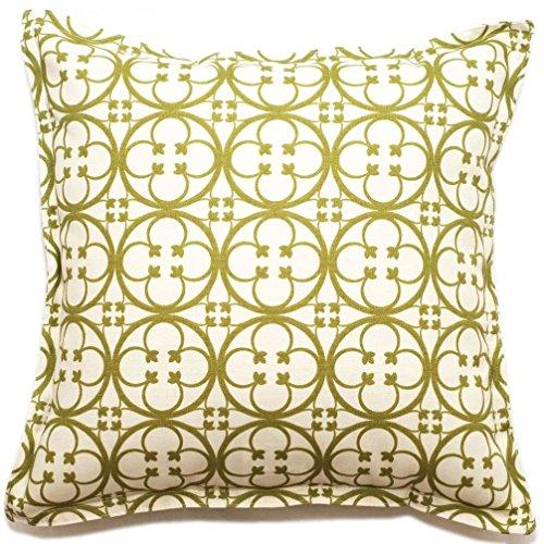 Corona Decor Clover Pattern Outdoor Living 18-inch Throw PIllow (Corona Patio Furniture)