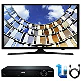 Samsung UN43M5300 Flat 43'' LED 1920x1080p 5 Series Smart TV (2017 Model) w/ HDMI DVD Player Bundle Includes, HDMI 1080p High Definition DVD Player, 6ft High Speed HDMI Cable and LED TV Screen Cleaner