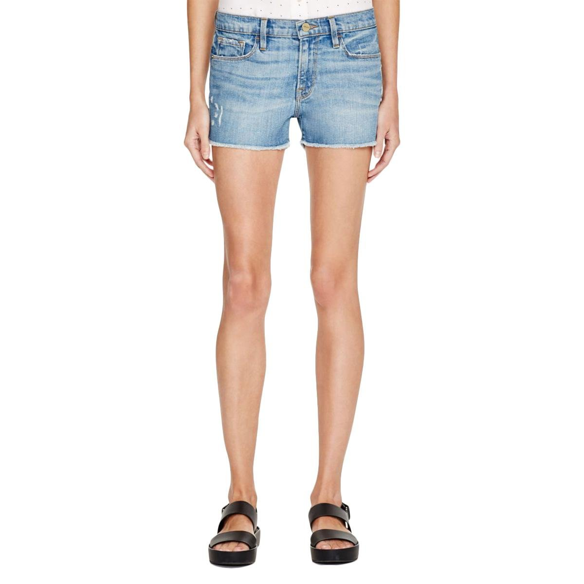 Frame Denim Womens Cut Off Distressed Cutoff Shorts Blue 27