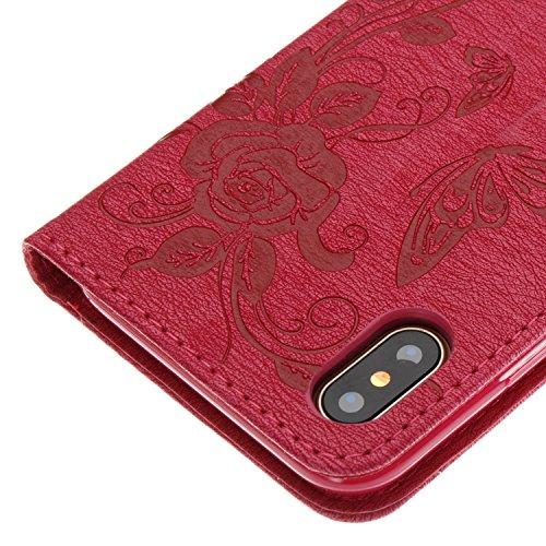 Flip Funzione Color3 In Magnetica Pelle Amberma Antiurto Custodia Pu Libro 7 Carte Cover Premium Clear Chiusura Design nbsp;in Case 7 Per Tpu Iphone A xaqfnx8pT