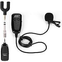 Micrófono de solapa inalámbrico Lavalier, grabación UHF inalámbrico profesional de reducción de ruido de 50 m de alcance…