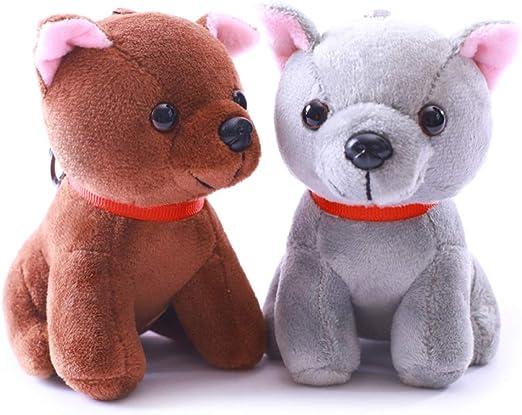 Fashion Plush Squirrel Stuffed Animal Toy Dolls Key Chain Ring Phone Bag Pendant