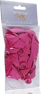 بالونات وايت روز بيرل بينك - 12 حبة