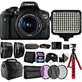 Canon EOS Rebel T6i 24.2MP DSLR Camera + 18-55mm + 58mm Filter Kit + Telephoto & Wide Angle Lens + 32GB Memory Card + Wallet + Reader + Led Video Light + Case + Flexible Tripod + 3pc Cleaning Kit