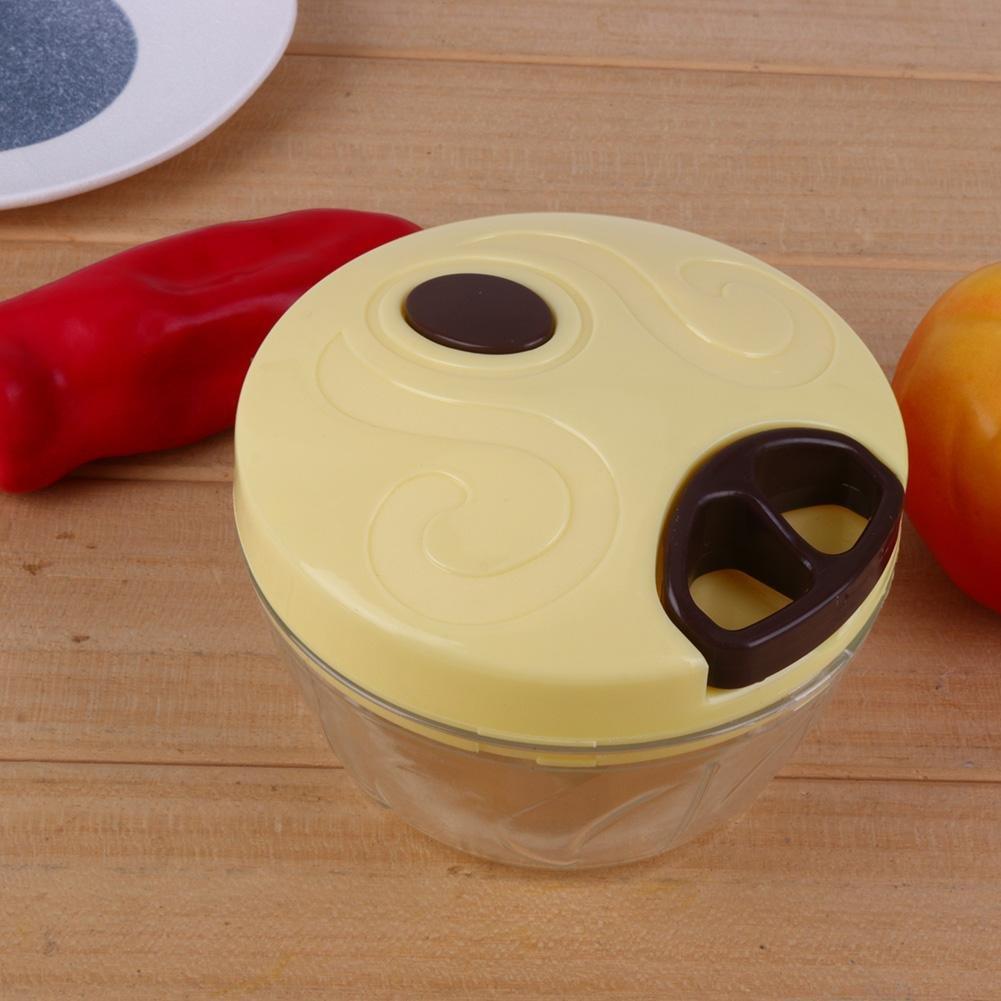 Verde UEB Tritatutto Manuale a Corda Chopper Alimentare Mini Robot da Cucina Multifunzione Taglia Verdure e Carne