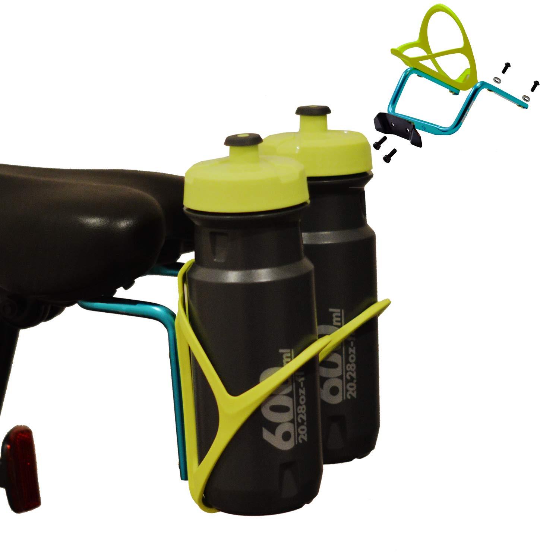 Triathlon VTT v/élo Hybrid pour Selle de si/ège arri/ère Aluminium Metal Porte Bidon V/élo Double Porte-bidons /à Bicyclette RUZER /© Ultra-L/éger Porte-Poussette pour v/élo
