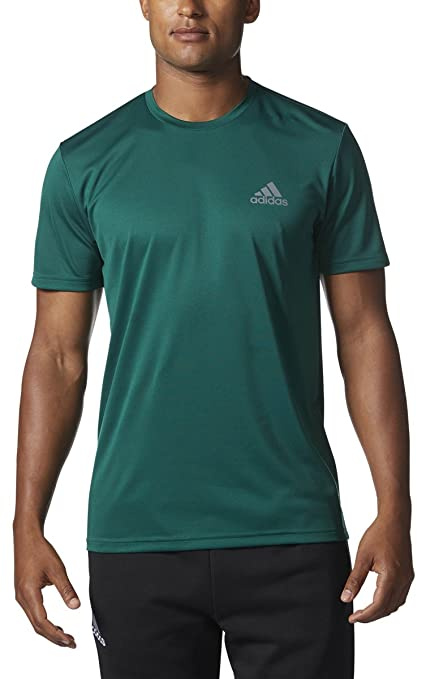 76455b28a adidas Mens Medium Athletic Climalite Crewneck T-Shirt Green M: Amazon.in:  Sports, Fitness & Outdoors