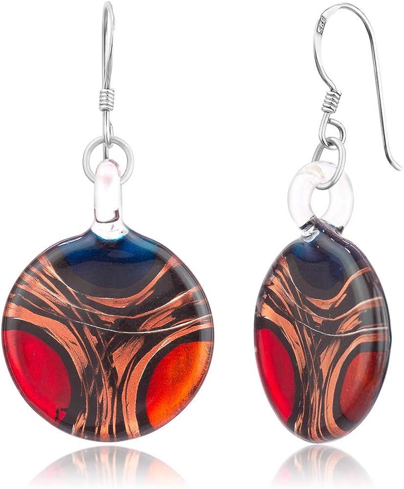 Blue /& Copper Metallic Glass Ring Murano Glass Ring Lamp Work Ring