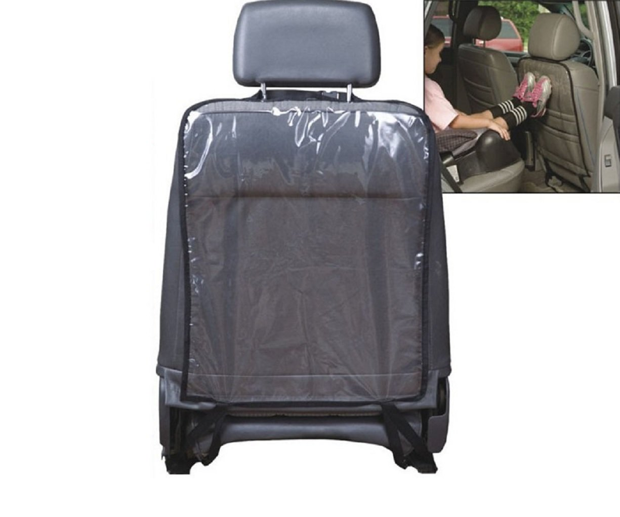 Car Seat Back Cover, Protector, Kick Mat for Kids, Universal Fit, Clear Transparent (save 15% if you buy 2 or more) MOKRIL