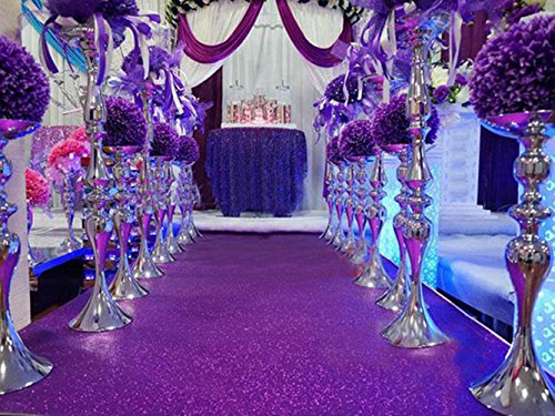TRLYC Purple Wedding Aisle Runner Glitter Carpert Runner-4FTx30FT from TRLYC